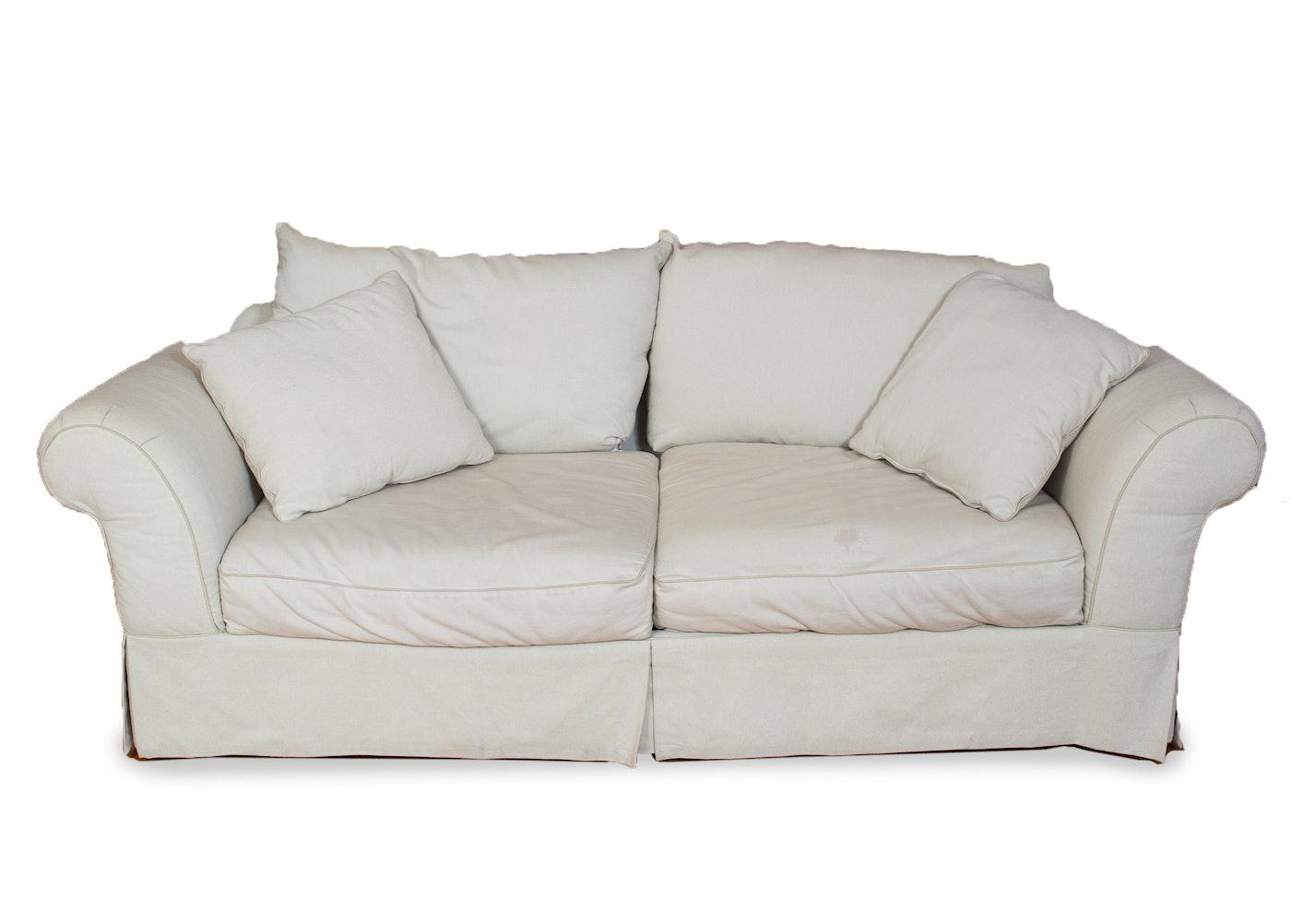 large beige sofa ebth. Black Bedroom Furniture Sets. Home Design Ideas
