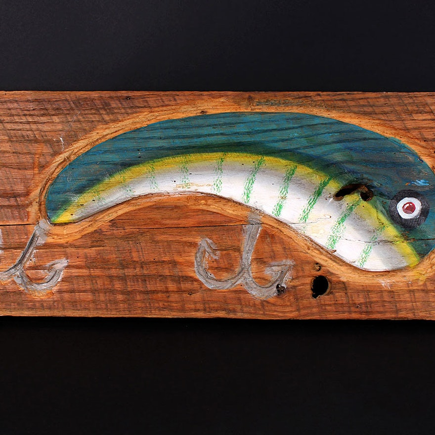 Handpainted Wooden Lure Carving