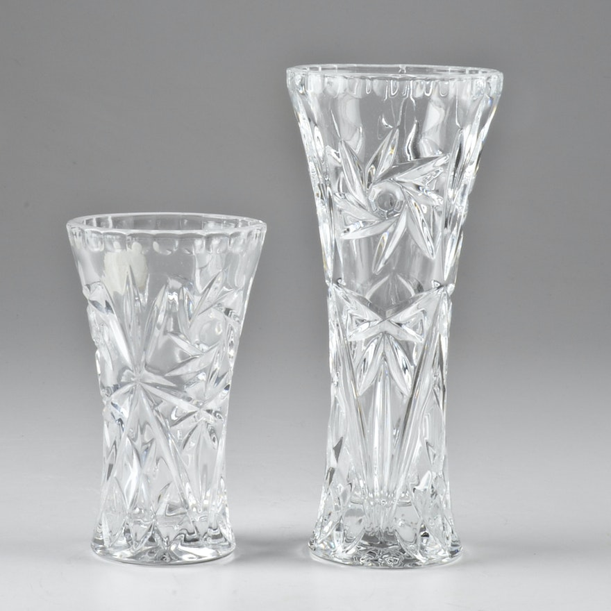 Pair Of Lenox Crystal Star Vases Ebth