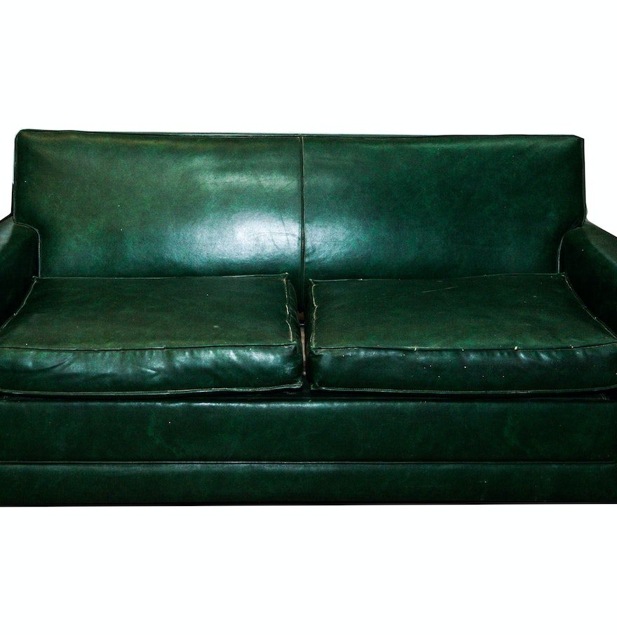 Vintage 1950s simmons green vinyl hide a bed sofa ebth for Sectional sofa with hide a bed