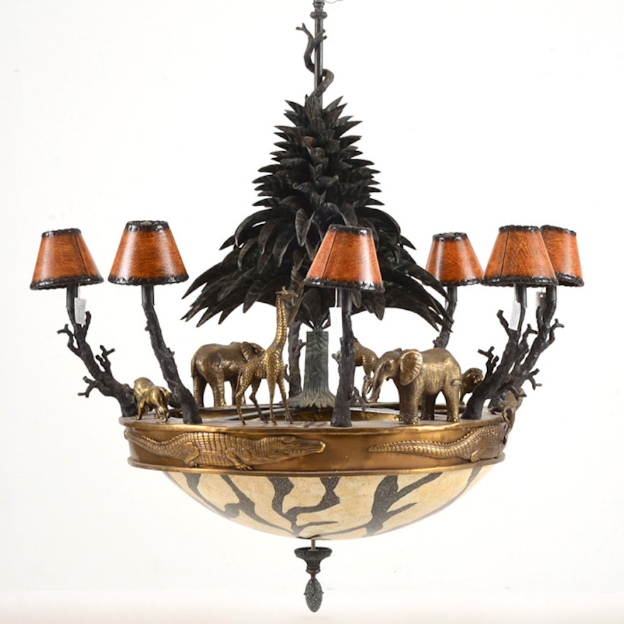 Large Maitland Smith Chandelier