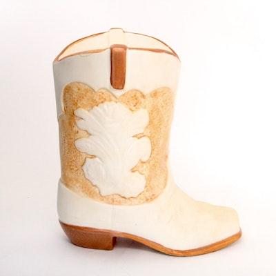 Vintage Treasure Craft Cowboy Boot Cookie Jar