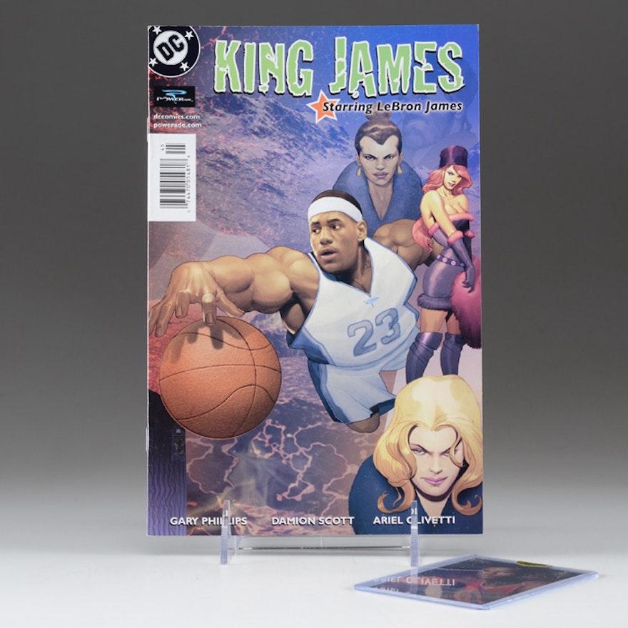 2004 LeBron James Comic Book and Signed Card   EBTH 362b1239b