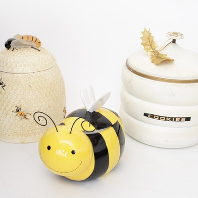 Vintage Group of Arnel's and Avon Beehive-Inspired Cookie Jars