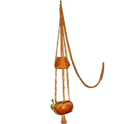 Ceramic Hanging Light and Planter