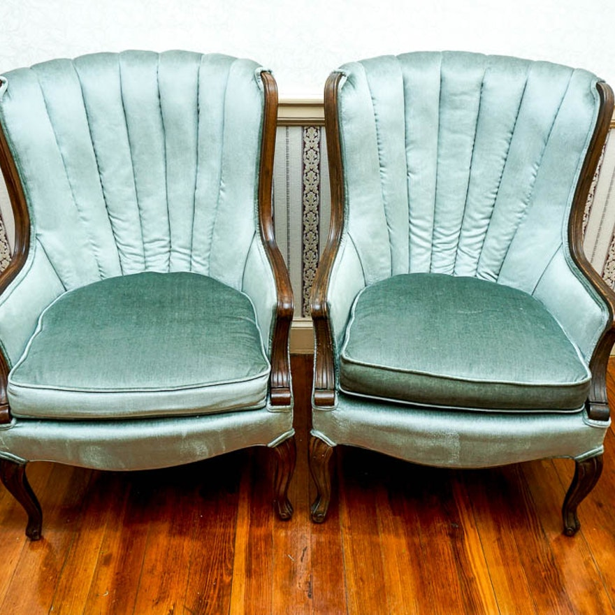 Antique Fan Back Upholstered Occasional Chairs ... - Antique Fan Back Upholstered Occasional Chairs : EBTH