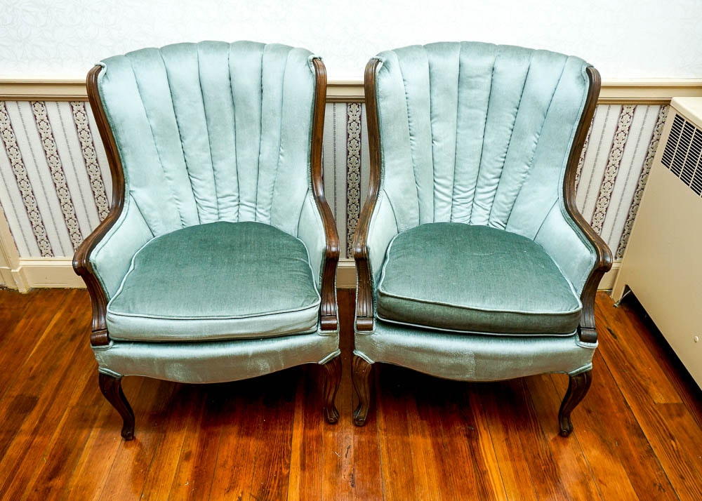 Antique Fan Back Upholstered Occasional Chairs ...