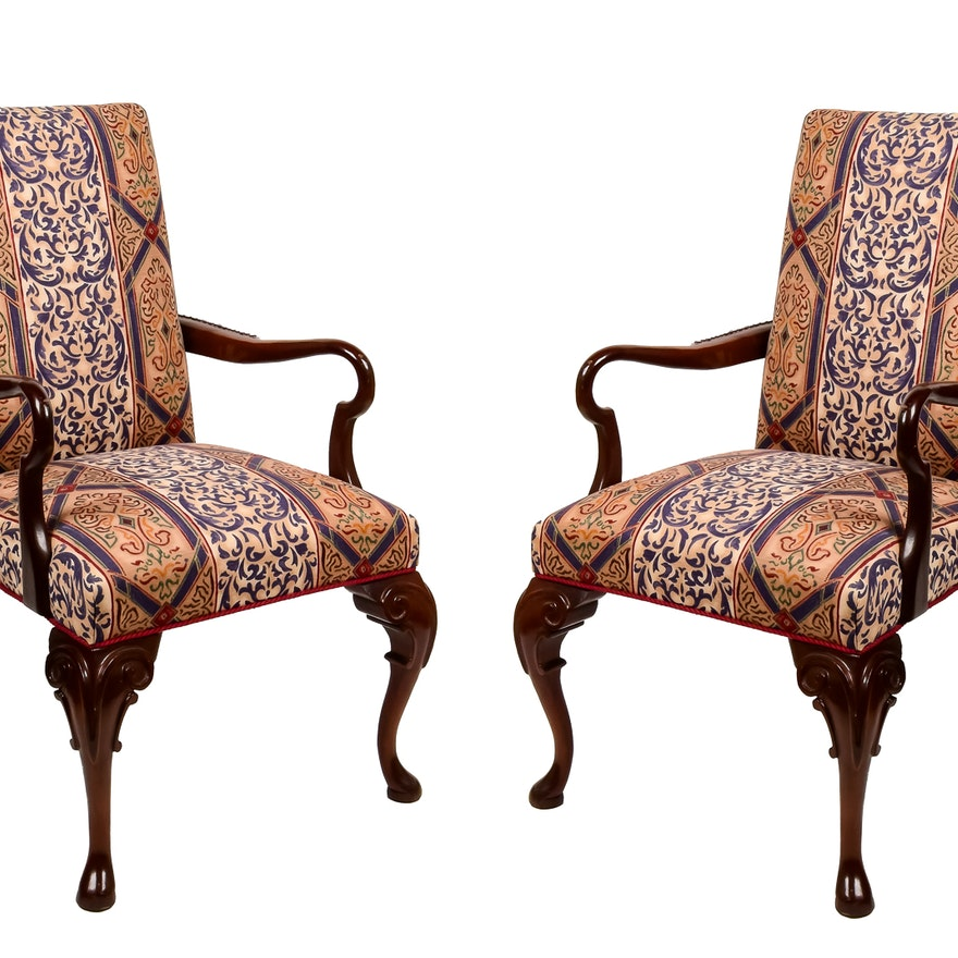 Statesville Queen Anne Style Upholstered Chairs | EBTH