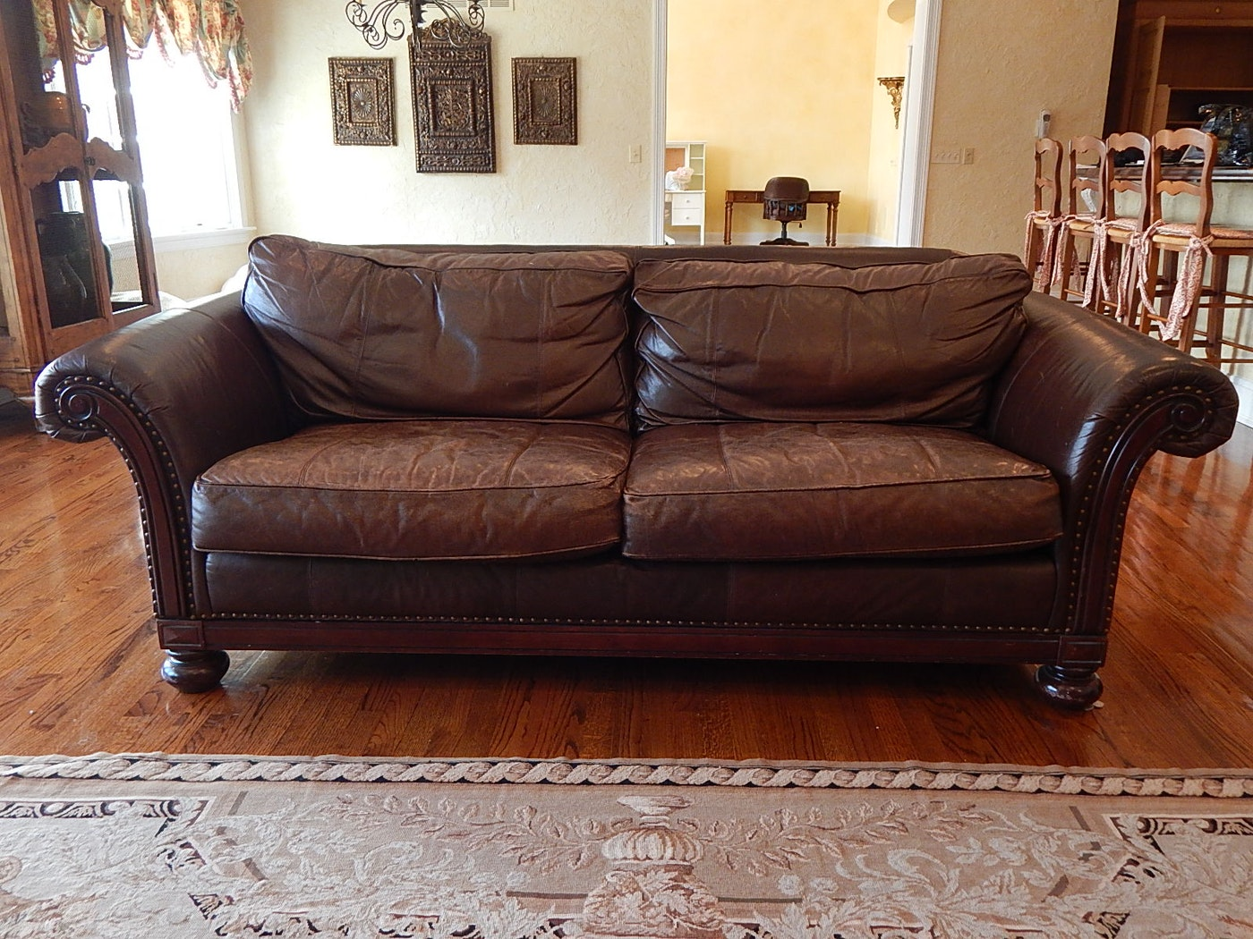 Bernhardt Brown Leather Sofa | EBTH