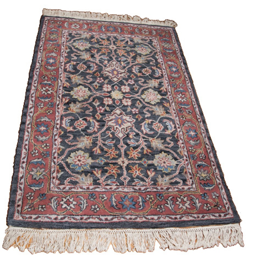 Hand Knotted Indo Persian Obeetee Wool Area Rug Ebth: Tufted Indo-Persian Wool Area Rug : EBTH