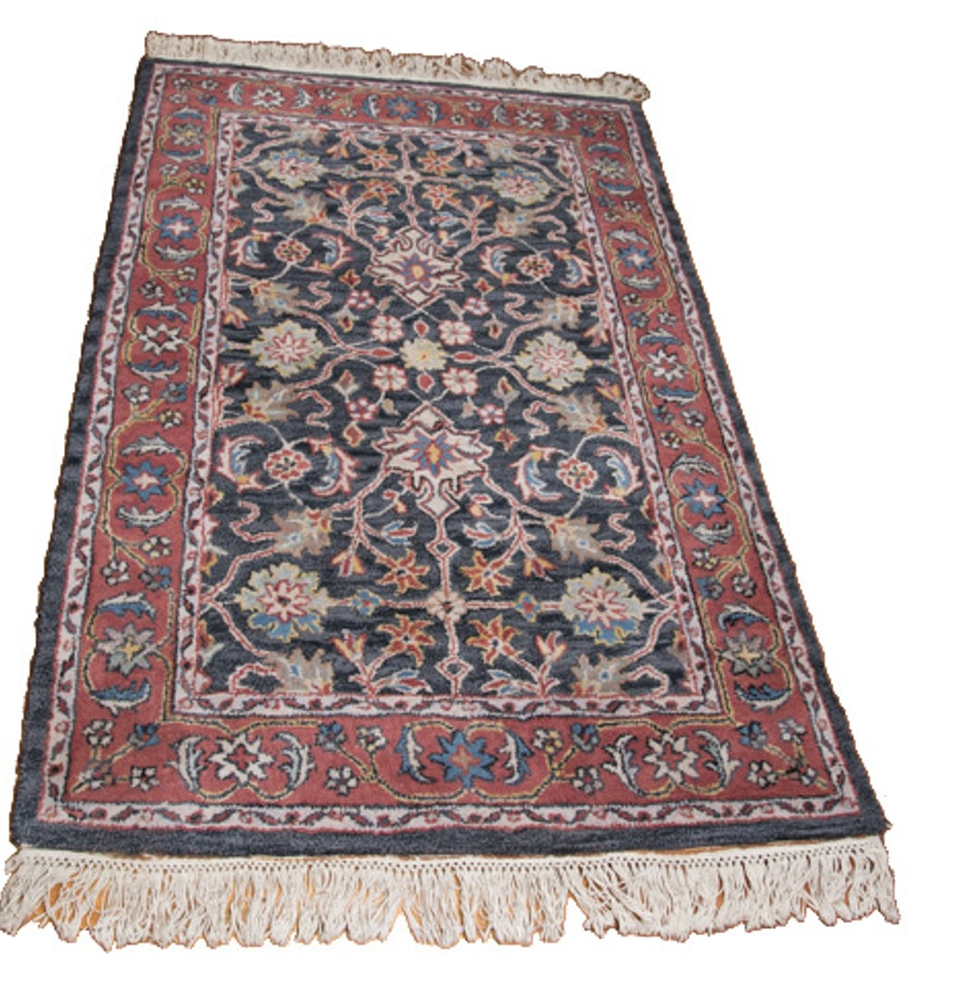 Persian Style Wool Area Rug Ebth: Tufted Indo-Persian Wool Area Rug : EBTH