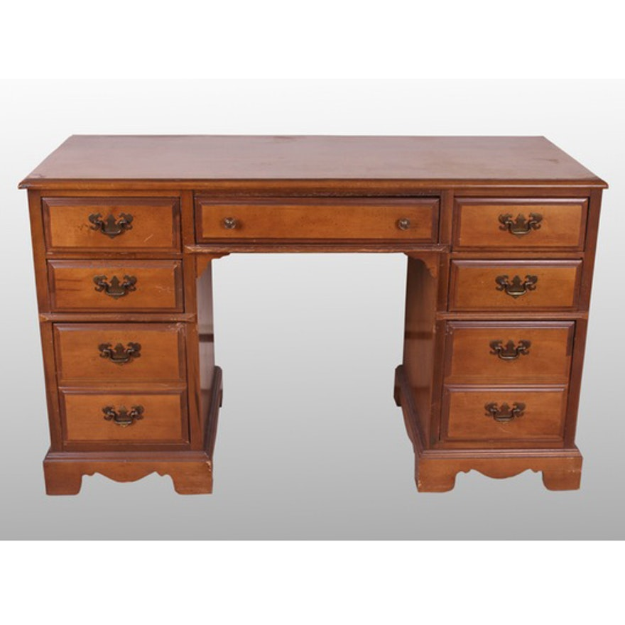 Vintage Cherry Finish Bassett Furniture Desk
