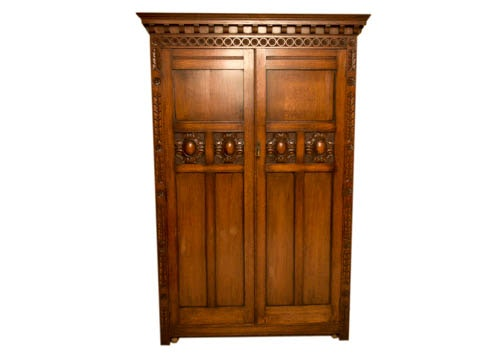 Exceptionnel Antique Scottish Arts And Crafts Period Oak Armoire ...