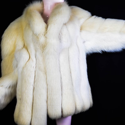 276b517cdce9 Miss O by Oscar De La Renta Fox Fur Coat