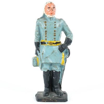 Antique Cast Iron Robert E. Lee Figurine