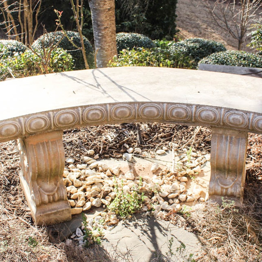 Surprising Curved Concrete Garden Bench Andrewgaddart Wooden Chair Designs For Living Room Andrewgaddartcom