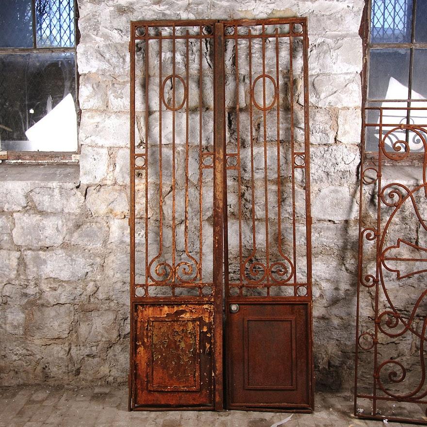 Antique Architectural Salvage Wrought Iron Doors ... - Antique Architectural Salvage Wrought Iron Doors : EBTH