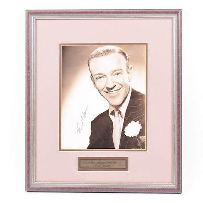 Fred Astaire Autographed Portrait