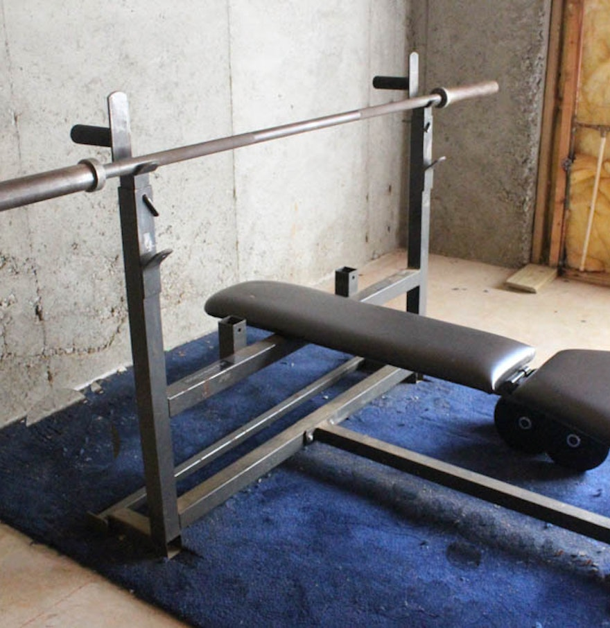 Bodysmith by parabody weight bench and weights ebth Weight bench and weights