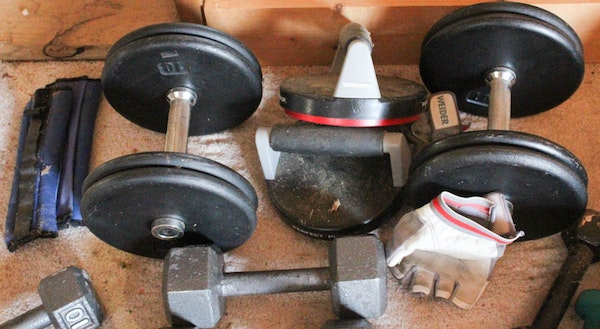 Bodysmith By Parabody Weight Bench And Weights Ebth