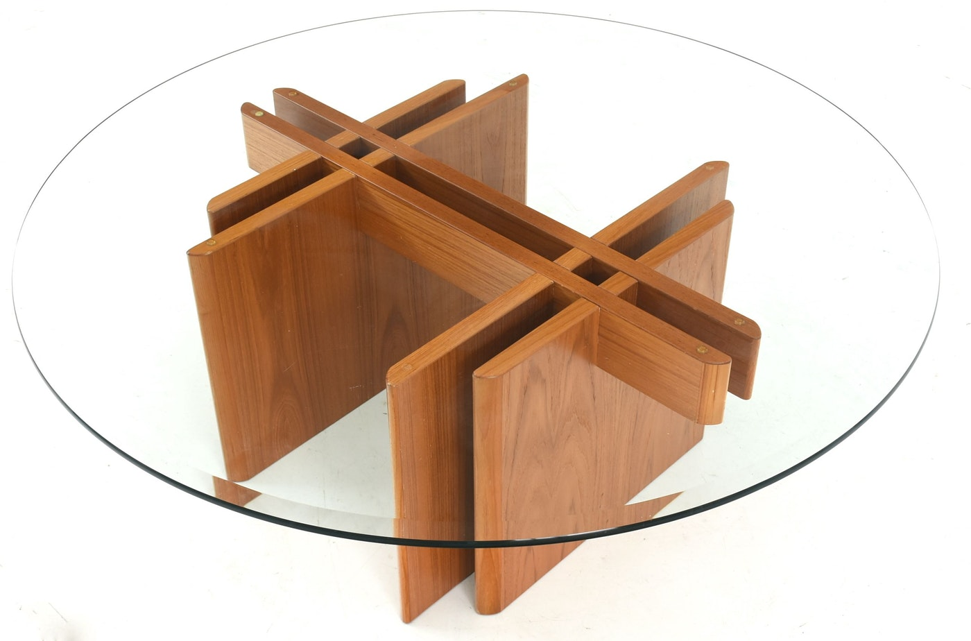 Danish Modern Hestbaek Style Teak Coffee Table with Glass ...