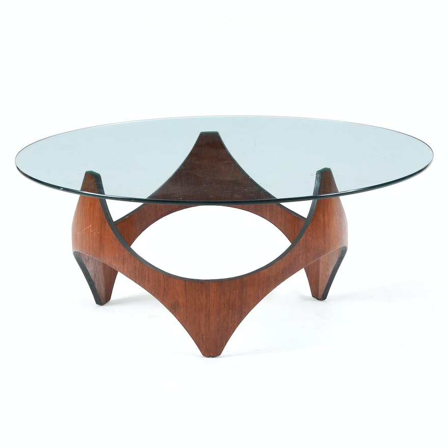 Henry P Glass Coffee Table Ebth