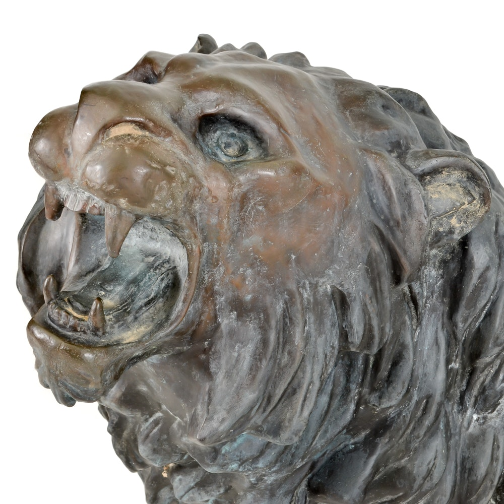 Life size bronze lion qui marche sculpture after a for Auto entrepreneur idees qui marchent