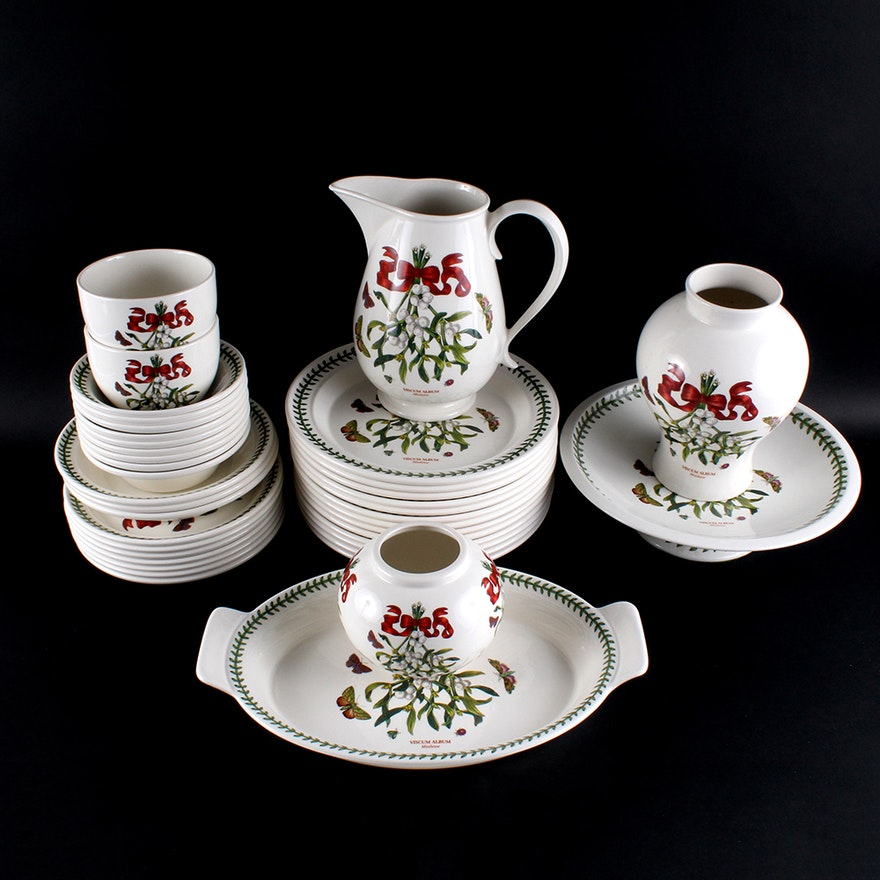 Portmeirion Botanic Garden Mistletoe Fine Stoneware China Tableware