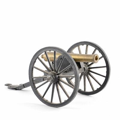 Vintage Cast Iron Penn Craft Civil War Cannon Replica