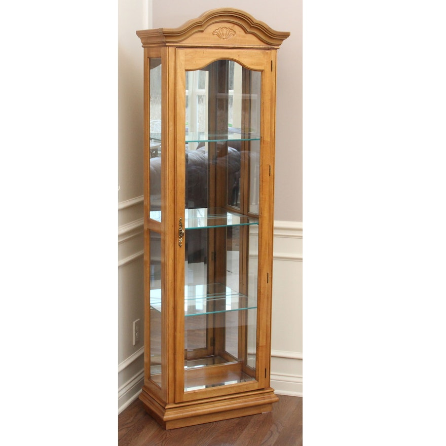 American Of Martinsville Maple Curio Cabinet