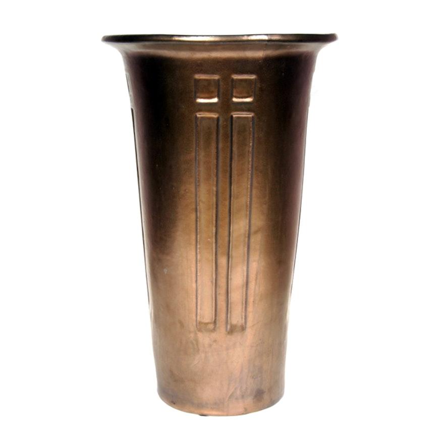Global Views Ceramic Arts And Crafts Style Umbrella Vase Ebth