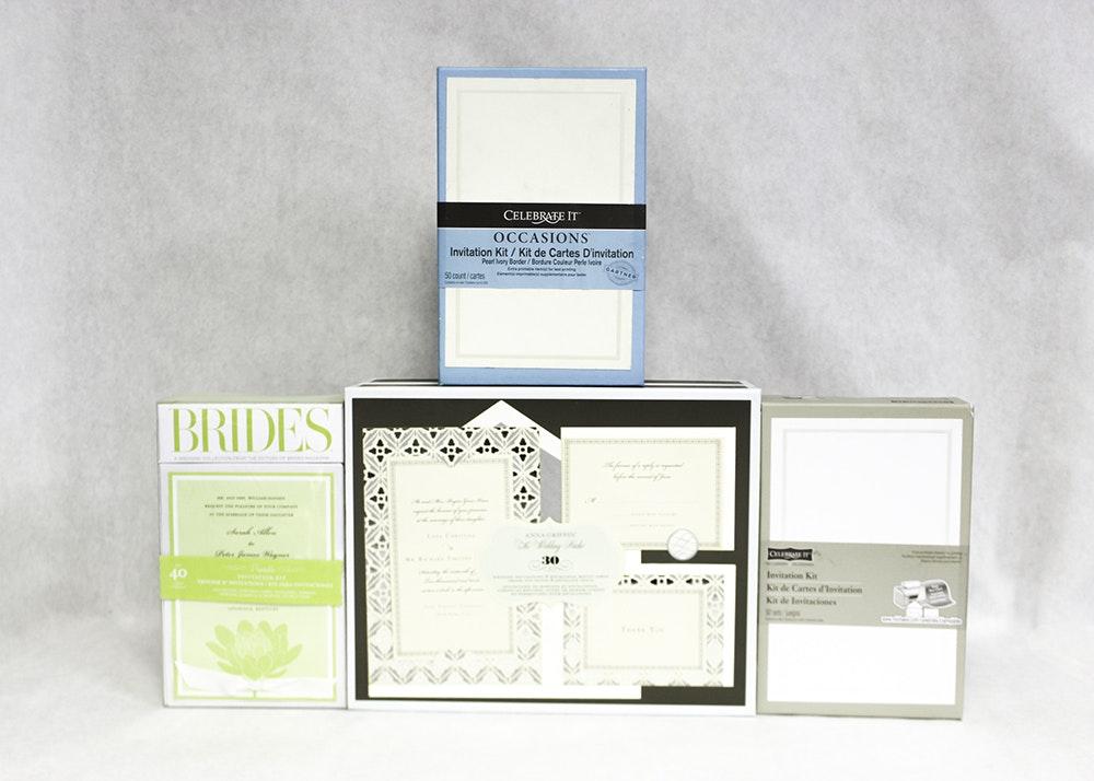 Assortment Of Wedding Invitation Stationery Ebth