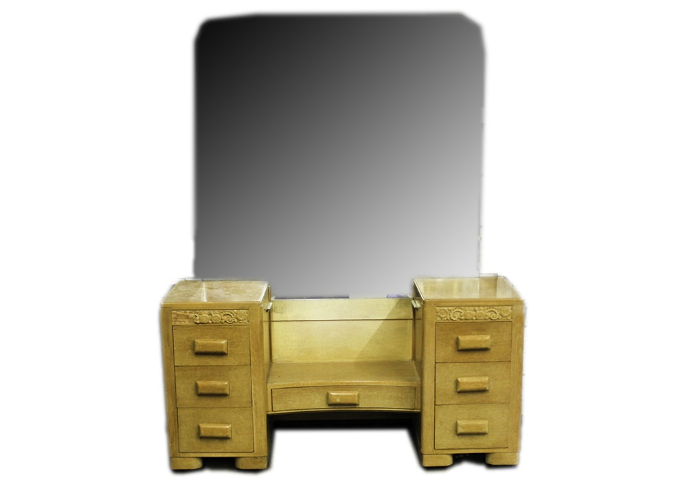 1950s Heywood Wakefield Style Birch Dressing Table Vanity