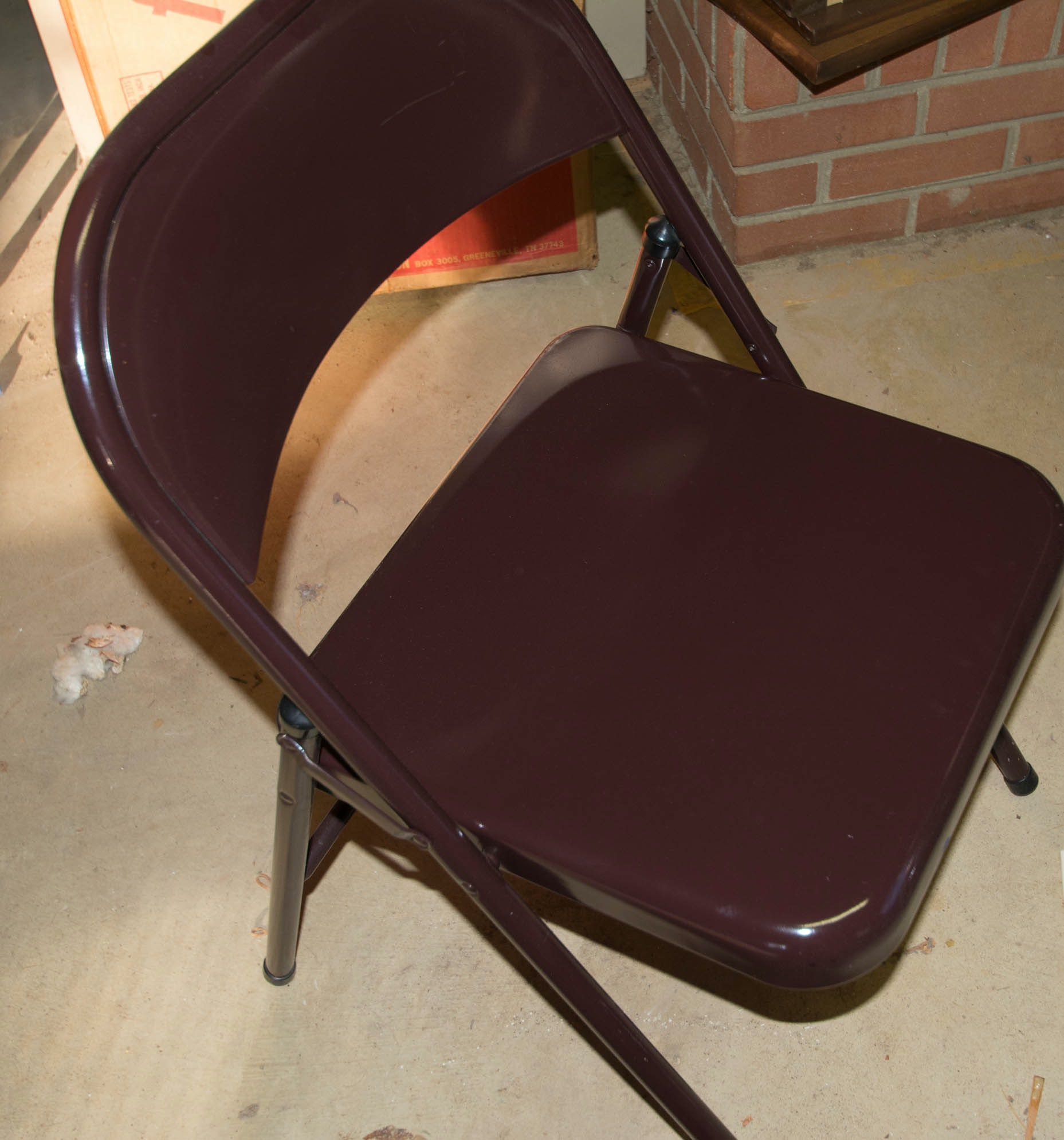 Set of Four Meco Brown Folding Chairs II EBTH