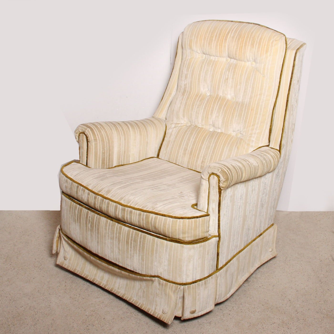 Upholstered Swivel Rocking Chair By Pontiac ...