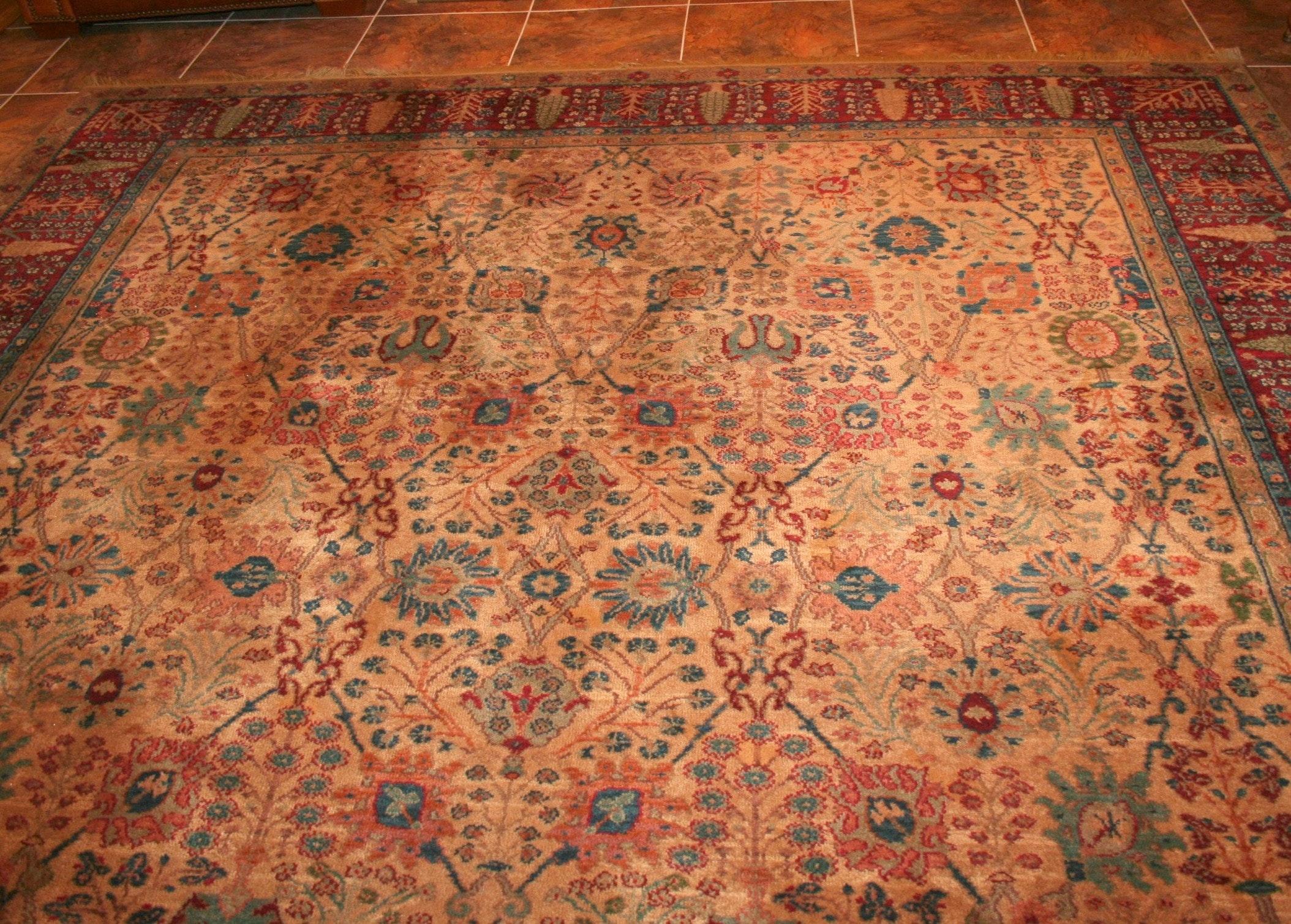 Karastan Quot Persian Vase Quot Wool Area Rug Ebth