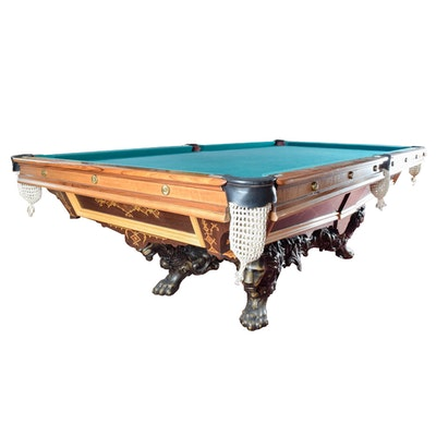 "c.1875 Brunswick-Balke-Collender ""Monarch"" Pool Table"
