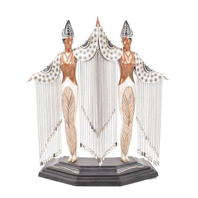 """Erté """"Les Bijoux de Perles"""" Bronze Sculpture"""