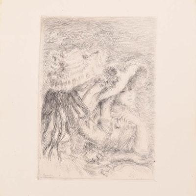 """Renoir Etching """"Le Chapeau Epingle"""""""