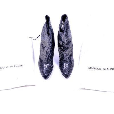 Manolo Blahnik Sequin Boots