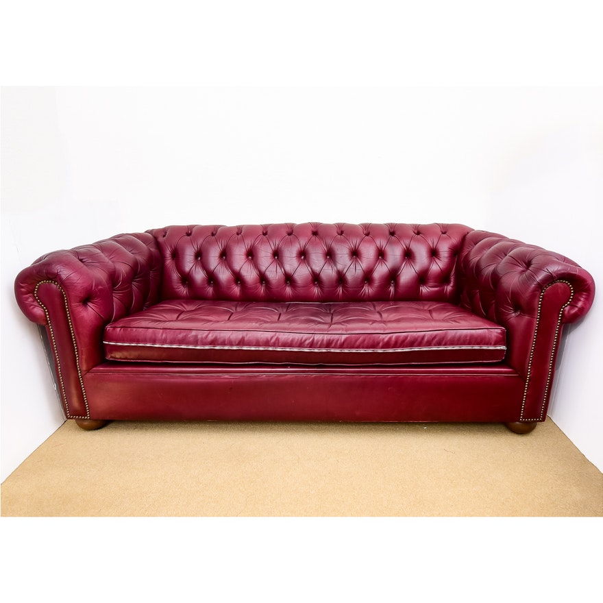 Incredible Avery Boardman Red Leather Chesterfield Sleeper Sofa Ocoug Best Dining Table And Chair Ideas Images Ocougorg