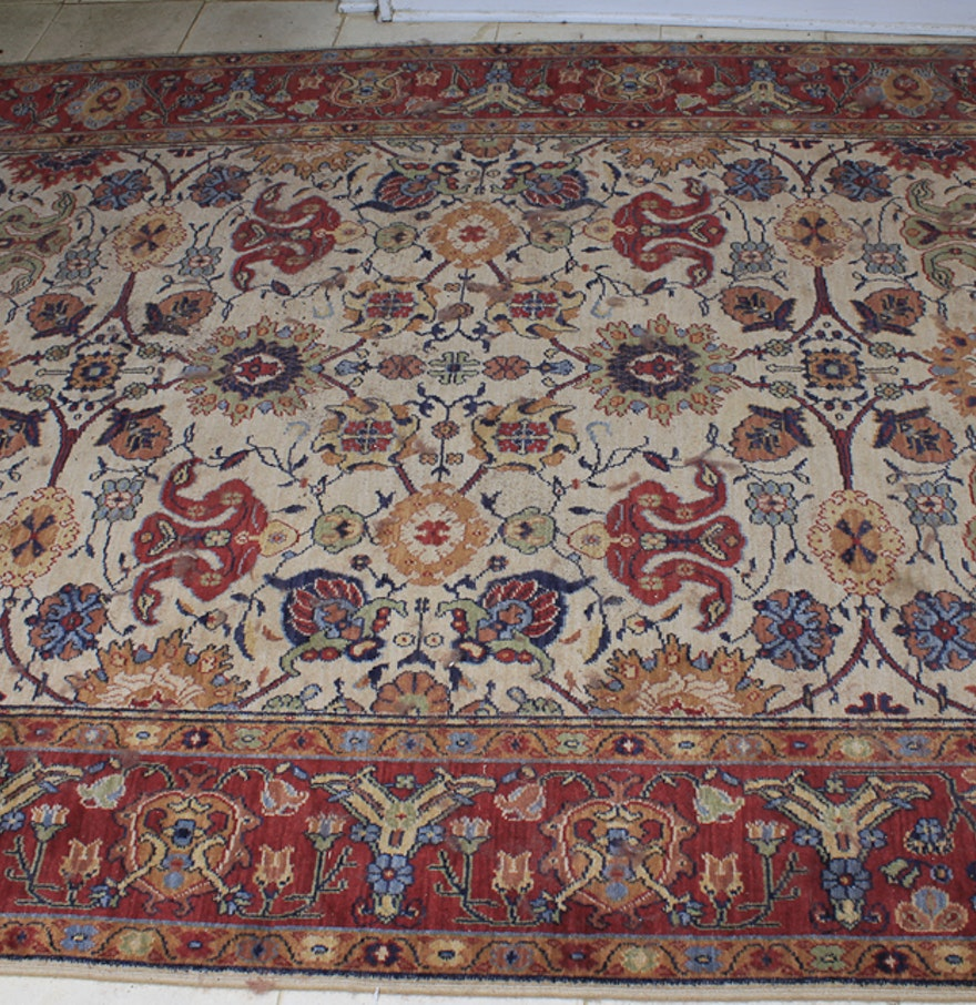 Persian Style Wool Area Rug Ebth: Machine Made Persian Style Rug : EBTH