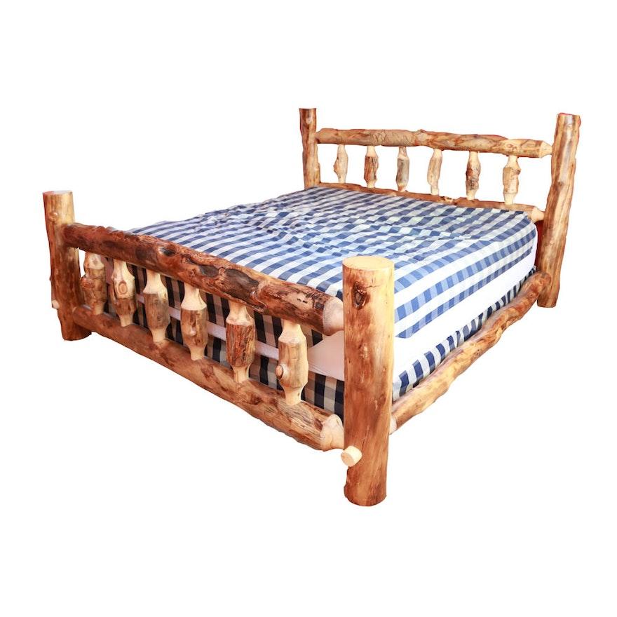 Cabin Style King Size Cedar Bed Frame