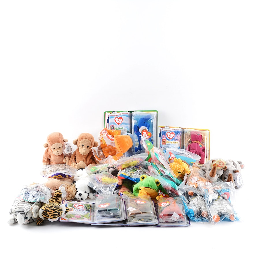 Ty Beanie Babies and McDonald s Happy Meal Toys   EBTH 4eb41b8024ef