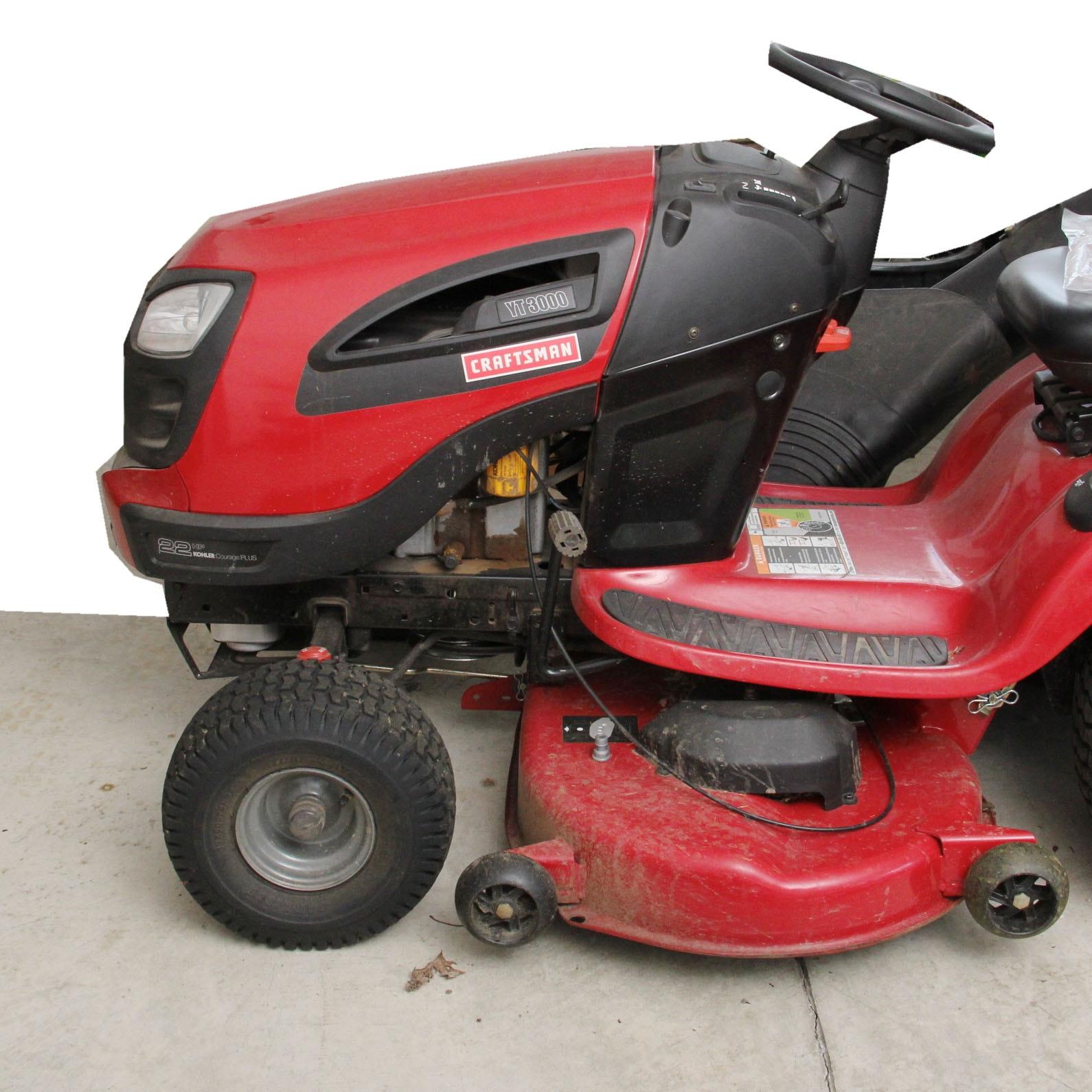 Craftsman Ty3000 Riding Lawn Mower Ebth