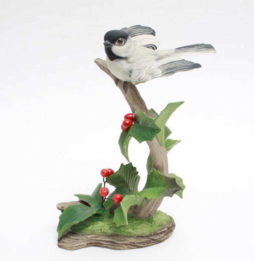 Boehm black capped chickadee figurine ebth - Chickadee figurine ...