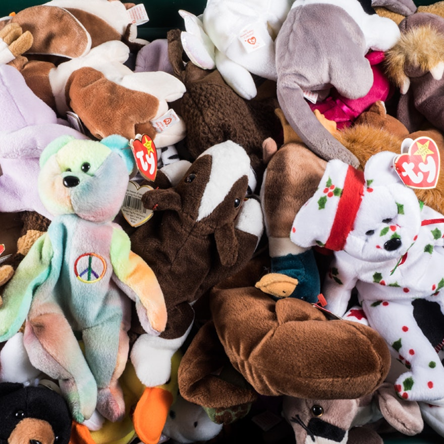 Large Collection of Ty Beanie Babies