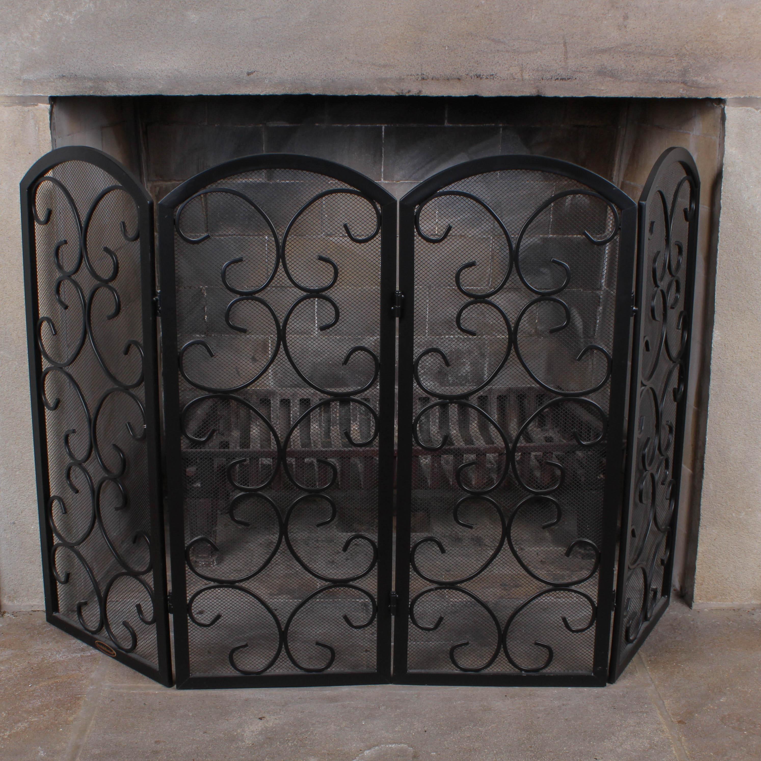 Smith & Hawken Wrought Metal Fireplace Screen : EBTH