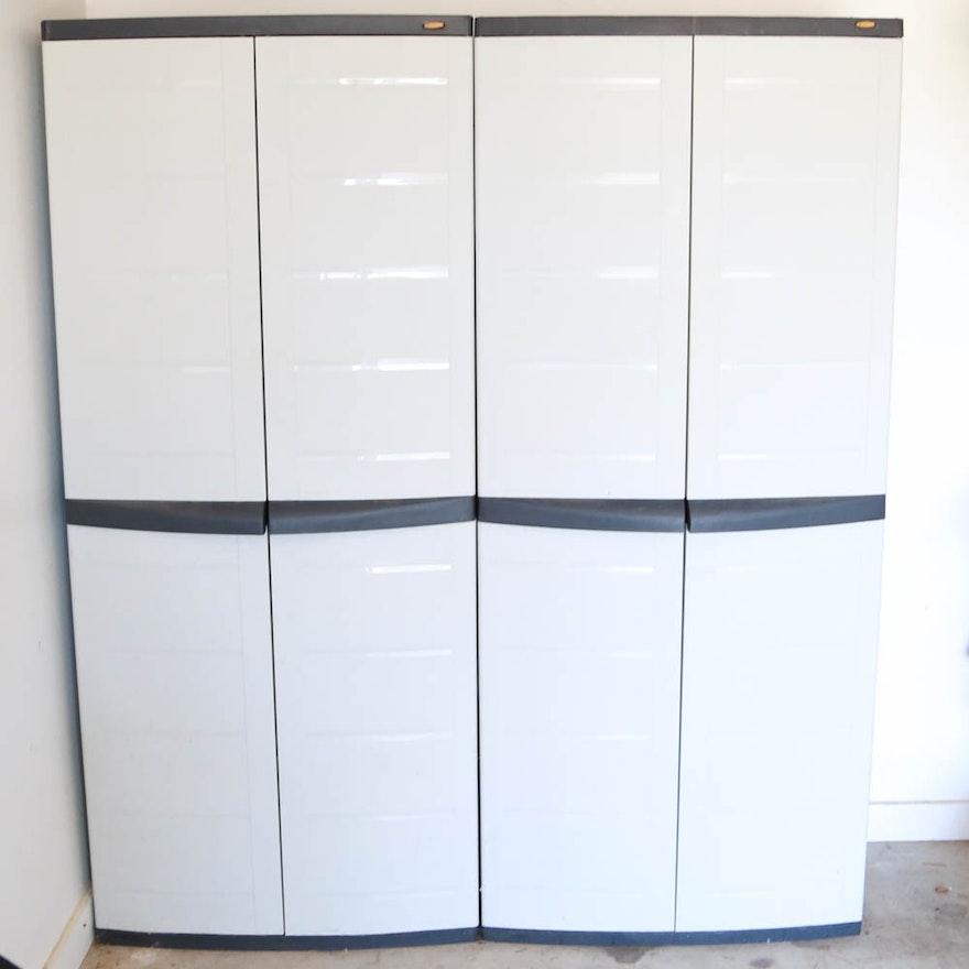 Pair Of Workforce Storage Cabinets