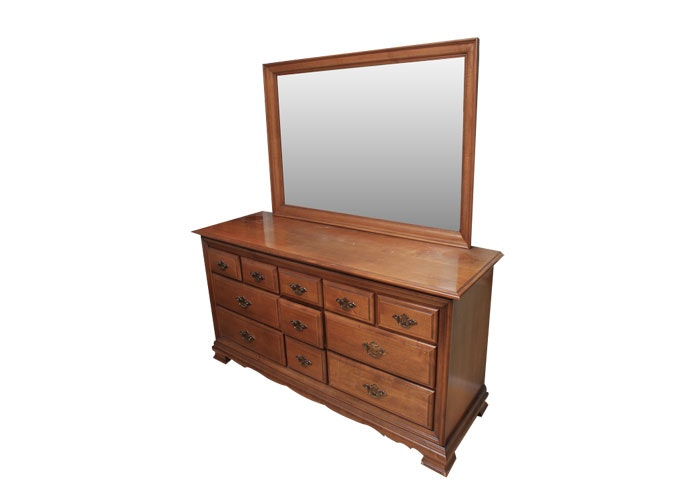 sumter cabinet co cherry dresser with mirror